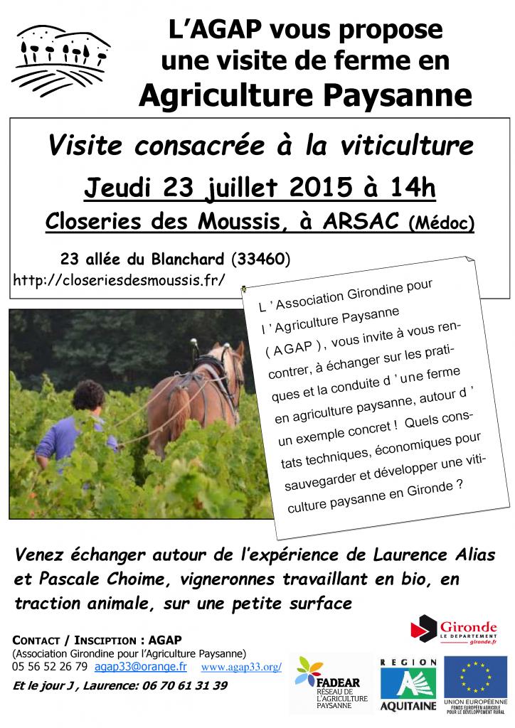 visite de ferme en viticulture paysanne