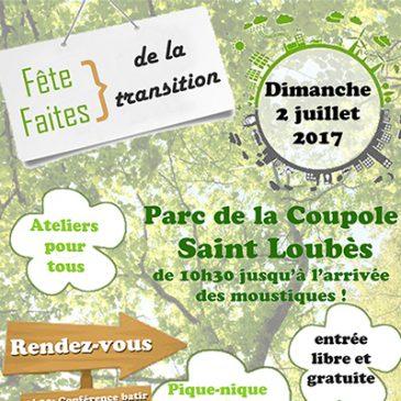 Fête de la transition à Saint Loubes !